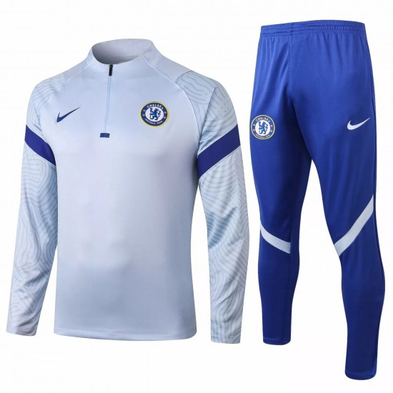 Chelsea Training Technical Soccer Tracksuit 2020 Sky Blue