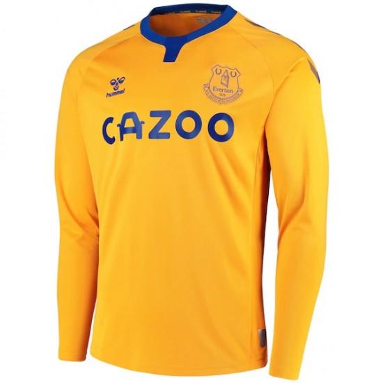 Everton Away Shirt 2020 2021 Long Sleeve