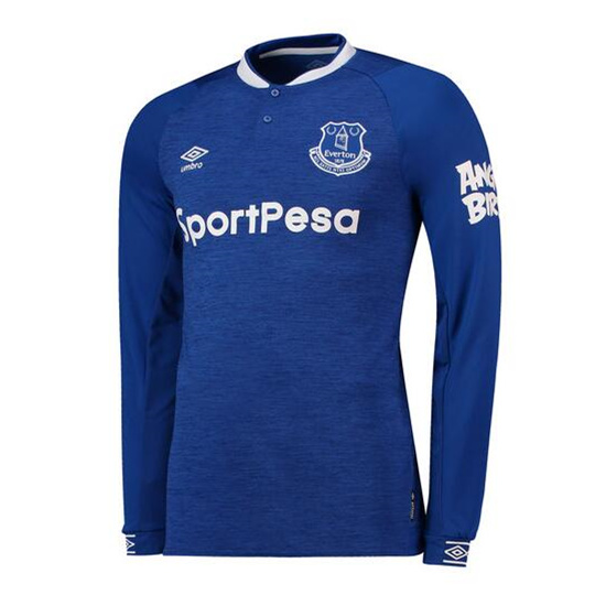 Everton Home Shirt 2018-19 - Long Sleeve