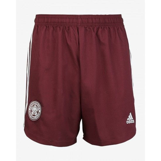 Leicester City Maroon Away Shorts 2020 2021