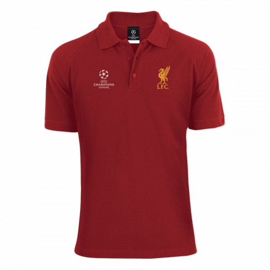 Liverpool FC Red Mens Champions League Polo T-Shirt