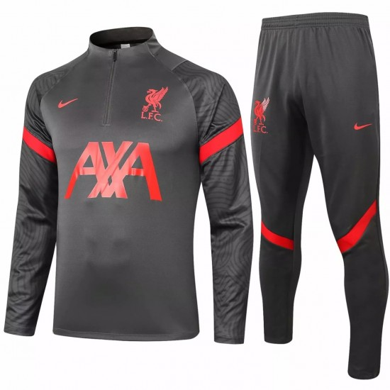 Liverpool FC Black Training Technical Soccer Tracksuit 2020 2021