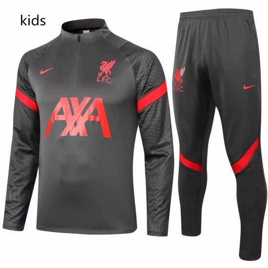 Liverpool FC Black Training Technical Soccer Tracksuit Kids 2020 2021