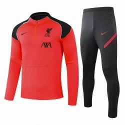 Liverpool FC Training Technical Soccer Tracksuit Orange 2020 2021