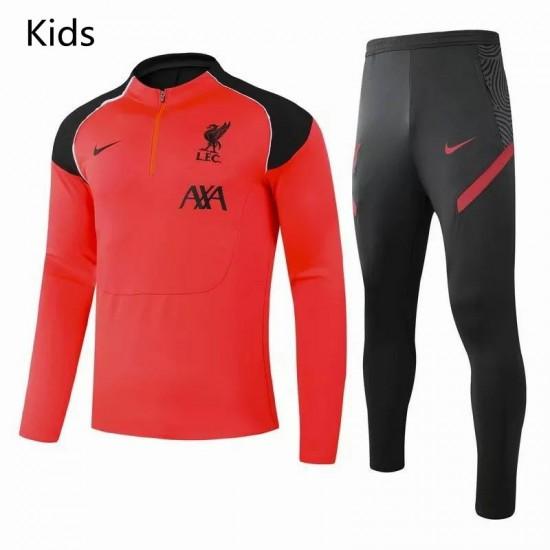 Liverpool FC Training Technical Soccer Tracksuit Orange Kids 2020 2021