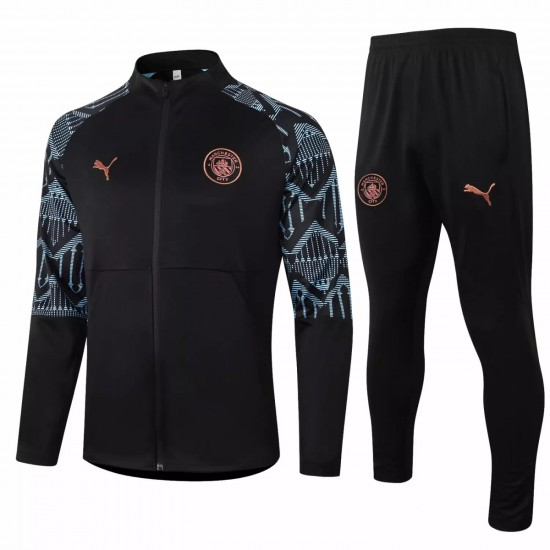 Manchester City Training Presentation Soccer Tracksuit 2020 Black