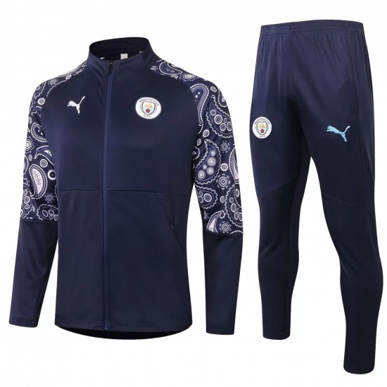 Manchester City Training Presentation Soccer Tracksuit 2020 Navy