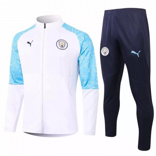 Manchester City Training Presentation Soccer Tracksuit 2020 White