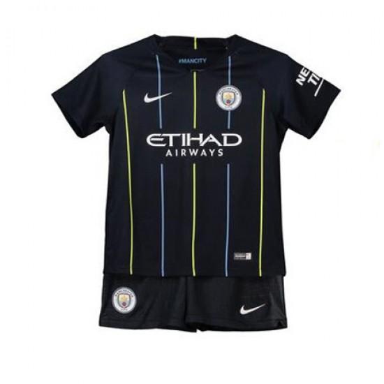 Manchester City Away Stadium Kit 2018-19 - Kids