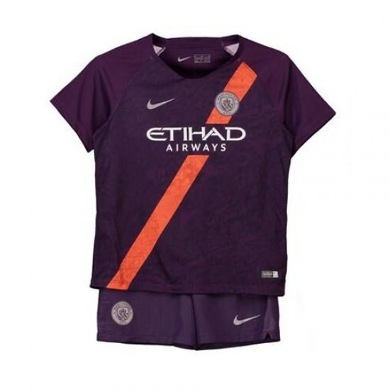 Manchester City Third Stadium Kit 2018-19 - Kids