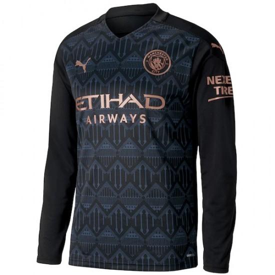 Manchester City Away Long Sleeve Jersey 2020 2021