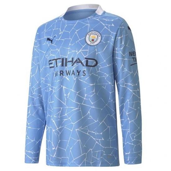 Manchester City Home Long Sleeve Shirt 2020 2021