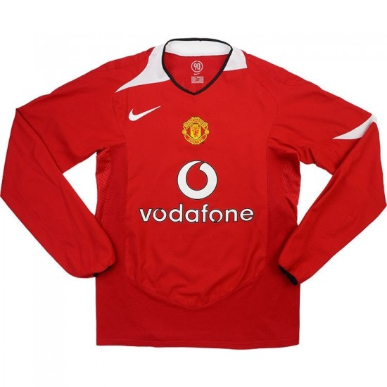 Manchester United Retro Home Long Sleeve Jersey 2004/06