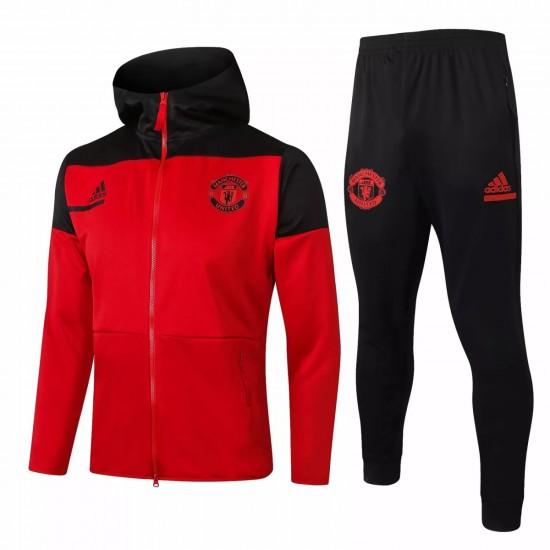 Manchester United Presentation Soccer Tracksuit Red 2020 2021