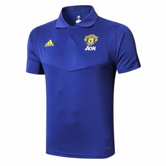 Manchester United Training Blue Polo 2019-20