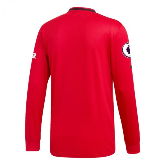 Manchester United Home Long Sleeve Jersey 2019/20