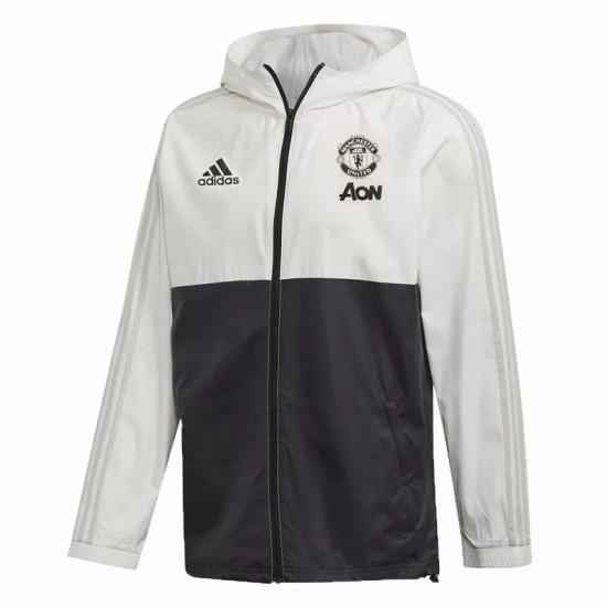 Manchester United All Weather Windrunner Jacket White Black 2020 2021