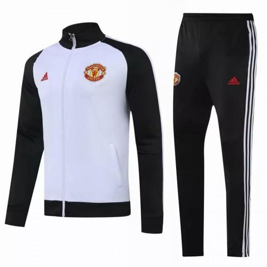 Manchester United Presentation Soccer Tracksuit White 2020 2021
