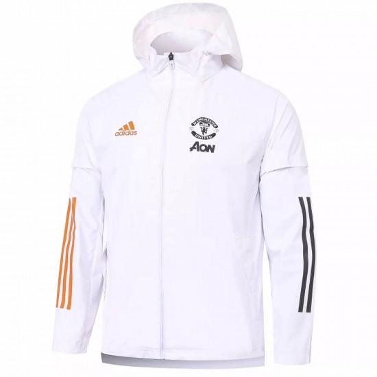 Manchester United Training All Weather Jacket White 2020 2021