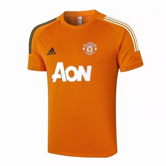 Manchester United Training Jersey Orange 2020 2021