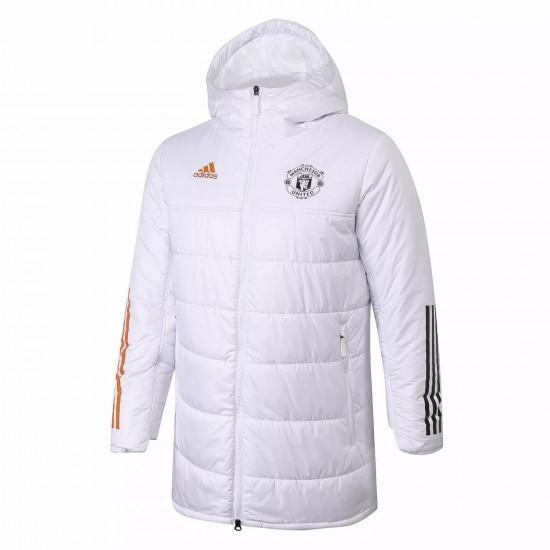 Manchester United White Winter Jacket 2020 2021
