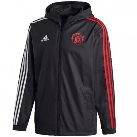 Manchester United Windbreaker Jacket 2020 2021 Black