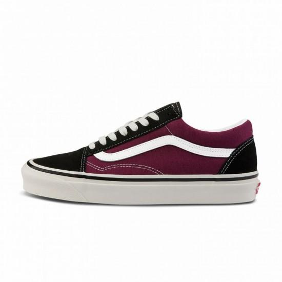 Vans Primary Check Old Skool purple
