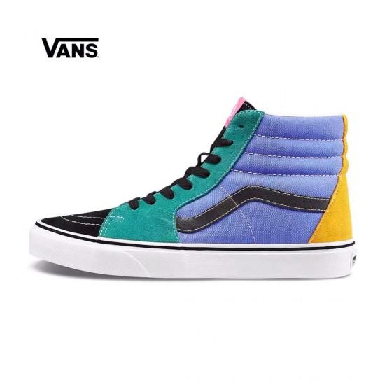 Vans Sk8-Hi color stitching Sneaker Men's and Women's