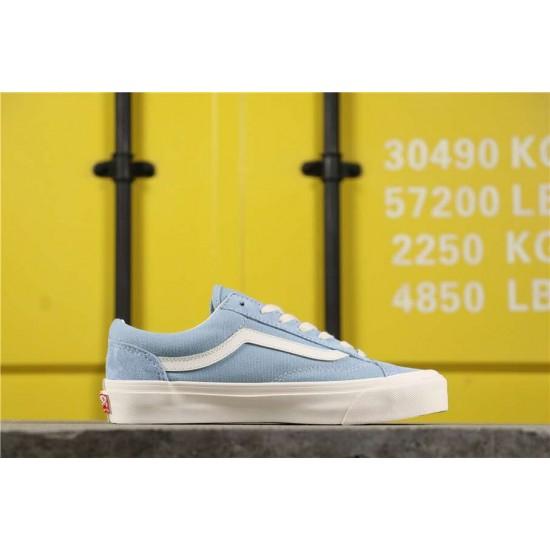 VANS OG STYLE 36 LX Classi Vulcanized Skate Shoes Light Blue