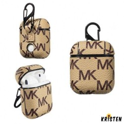Michael Kors Style Leather Protective Shockproof Case for Apple Airpods 1 & 2