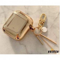 Metallic Gold Plating Hard Protective Shockproof Case for Apple Airpods 1 & 2