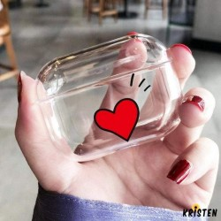 Heart Clear Hard Protective Designer Case for Apple Airpods Pro
