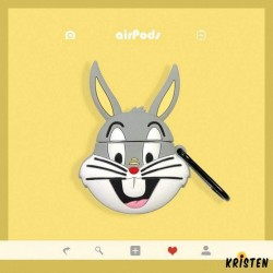Bugs Bunny Style Silicone Protective Case for Apple Airpods 1 & 2