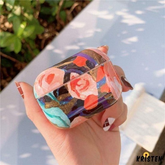 Abstract Floral Hard Protective Case for Apple Airpods Pro