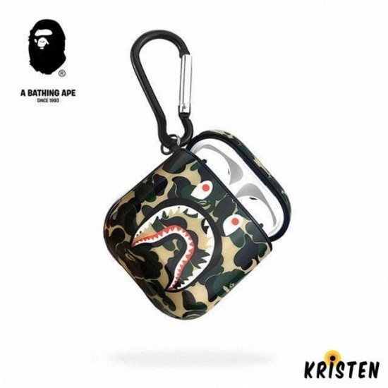 Aape Style Camo Hard Silicone Protective Shockproof Case for Apple Airpods 1 & 2