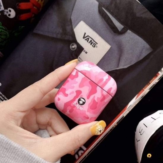 Aape Style Camo Camouflage Hard Protective Shockproof Case for Apple Airpods 1 & 2
