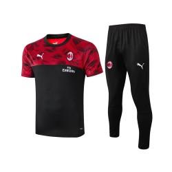 Ac Milan 2020/2021 Men Training Set Black-Red