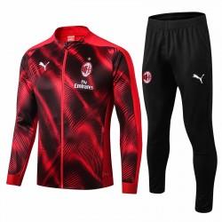 AC Milan Jacket Pants Training Suit Red 2019-20