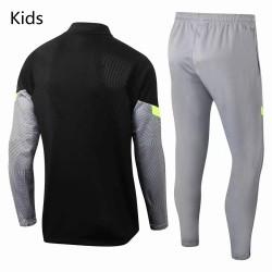 Atletico De Madrid Technical Training Soccer Tracksuit Black Grey Kids 2020 2021