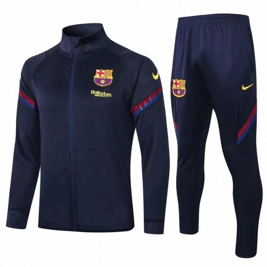 FC Barcelona Navy Soccer Presentation Tracksuit 2020