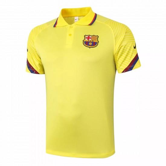 FC Barcelona Yellow Polo Shirt 2020