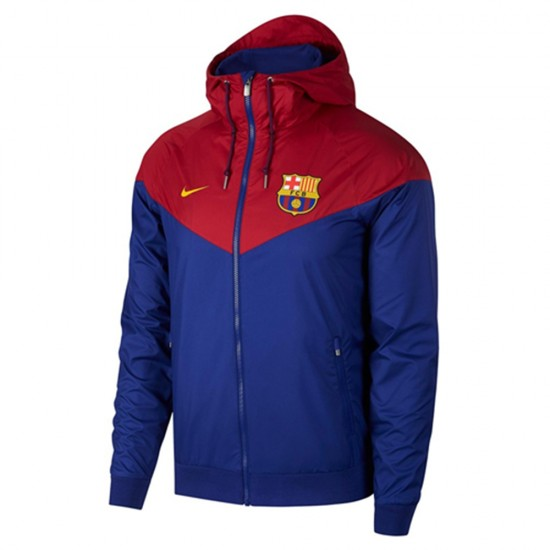 FC Barcelona Windrunner 2018/19 Blue Jacket