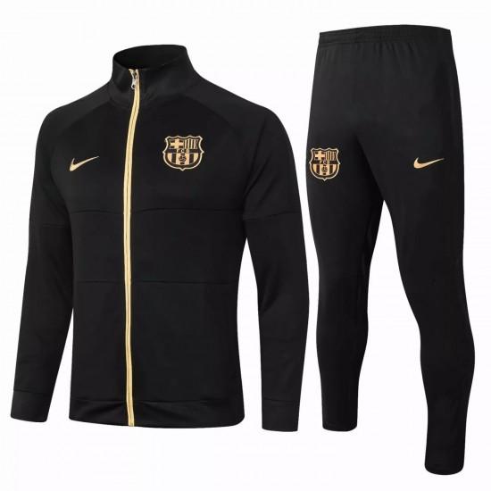 FC Barcelona Soccer Presentation Tracksuit Black Gold 2020 2021