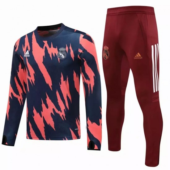 Real Madrid Training Soccer Tracksuit Navy Pink 2020 2021