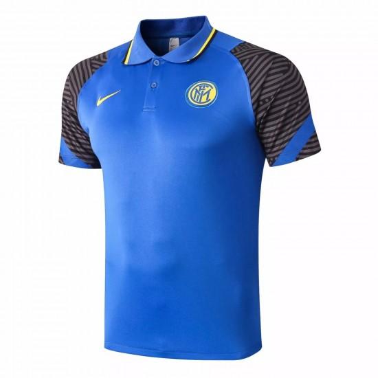 Inter Milan Polo Shirt 2020 Blue