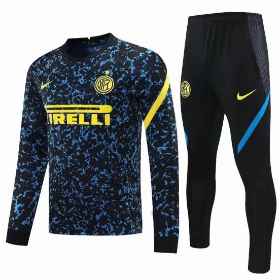 Inter Milan Soccer Training Technical Tracksuit Blue 2020 2021