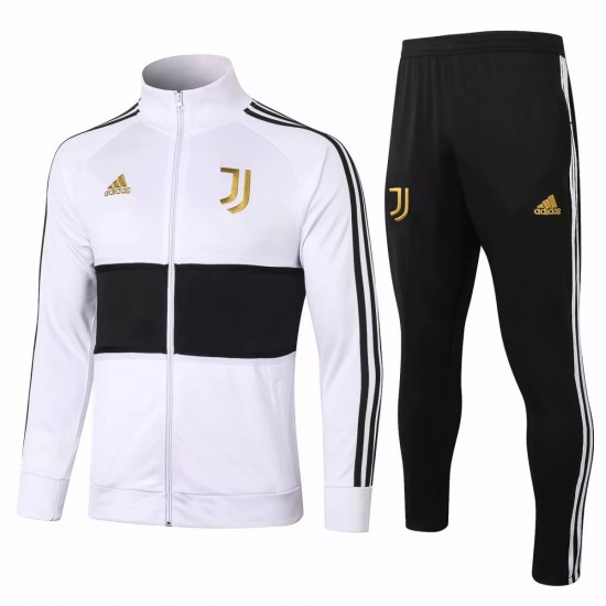 Juventus Presentation Soccer Tracksuit White Black 2020 2021