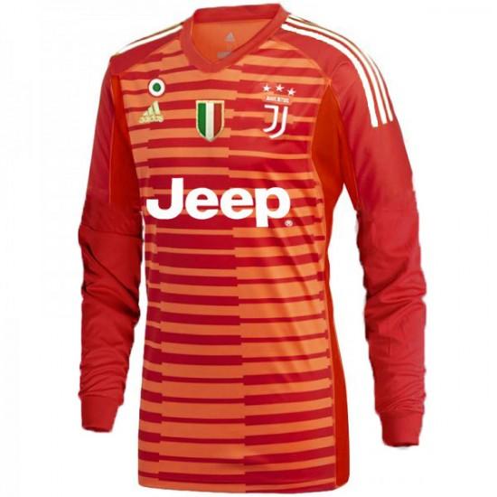 Juventus adidas 2018-2019 Red Goalkeeper Long Sleeve Jersey