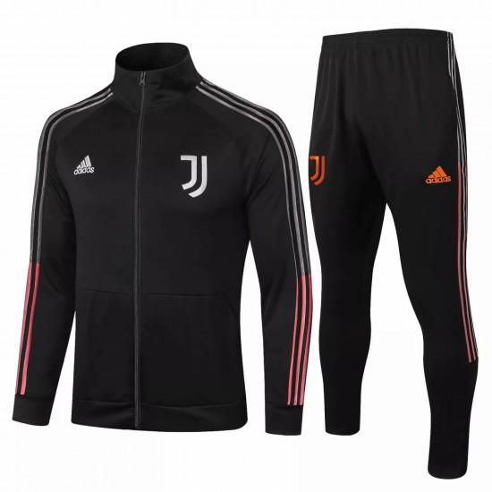 Juventus Presentation Soccer Black Tracksuit Black 2020 2021