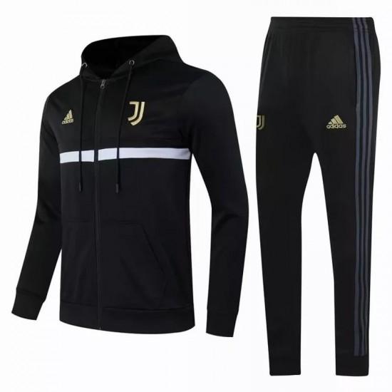 Juventus Training Presentation Soccer Tracksuit Black 2020 2021
